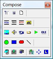 SuperMemo: Compose toolbar for adding new components to your elements