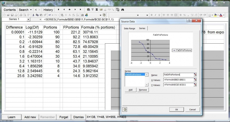 SuperMemo: An Excel spreadsheet being edited inside SuperMemo via OLE in-place activation