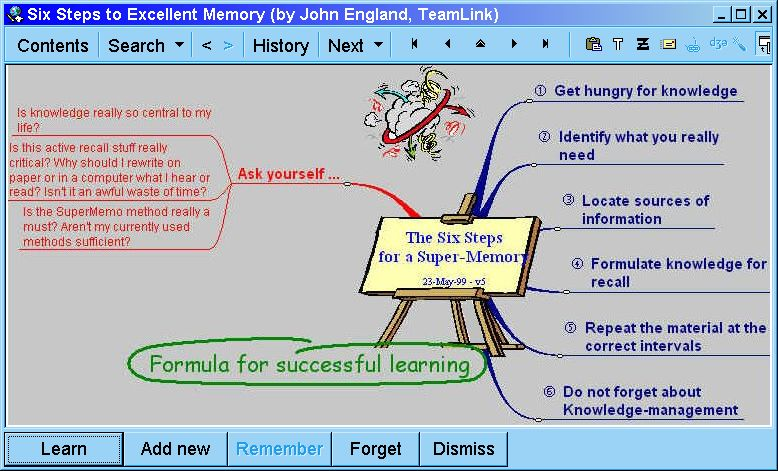 SuperMemo: using mind-maps via OLE with Mindmap Manager